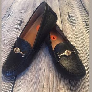 New Coach Arlene Black Leather Loafers